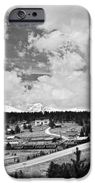 Rollinsville Colorado Small Town 181 In Black and White iPhone Case by James BO  Insogna