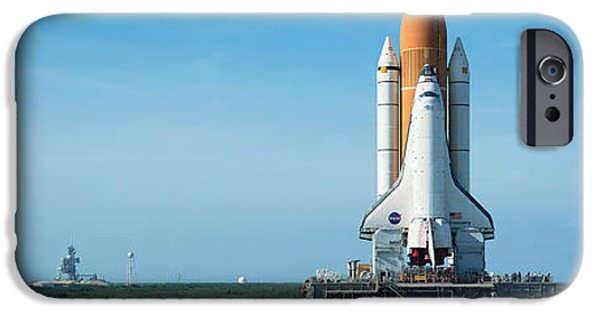 Technology iPhone Cases - Rollout Of Space Shuttle Discovery iPhone Case by Panoramic Images