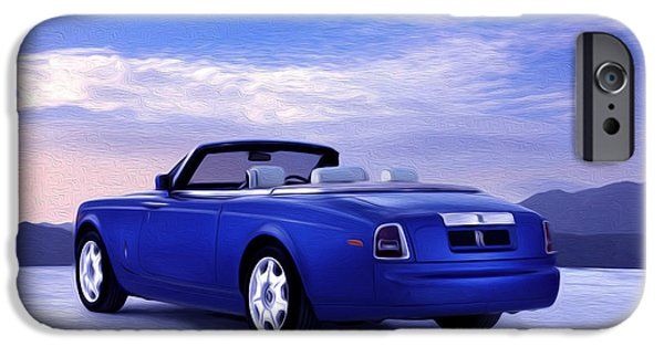 Asphalt Paintings iPhone Cases - Rolls Royce 1 iPhone Case by Lanjee Chee