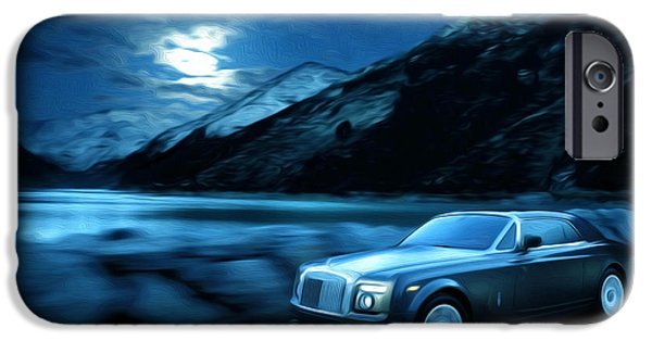 Business Paintings iPhone Cases - Rolls Royce 10 iPhone Case by Lanjee Chee