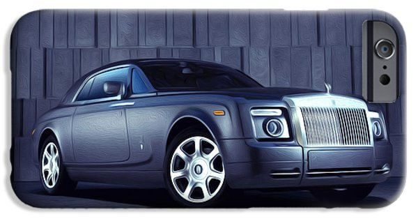 Technology iPhone Cases - Rolls Royce 3 iPhone Case by Lanjee Chee