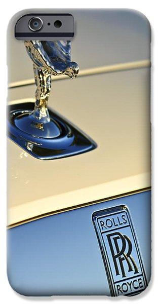 Rolls-Royce Hood Ornament 3 iPhone Case by Jill Reger