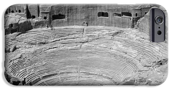 Jordan iPhone Cases - Roman amphitheatre at Petra iPhone Case by Paul Cowan
