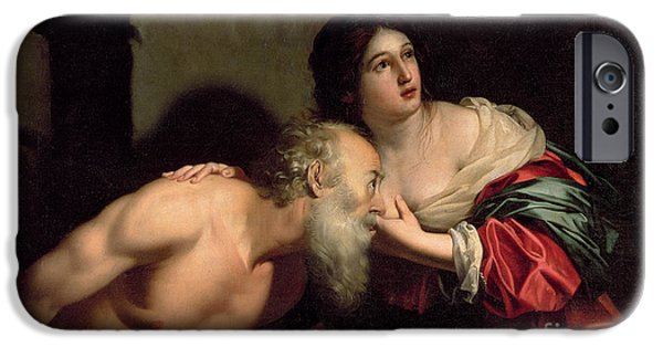 Breasts iPhone Cases - Roman Charity iPhone Case by Nicolas Regnier