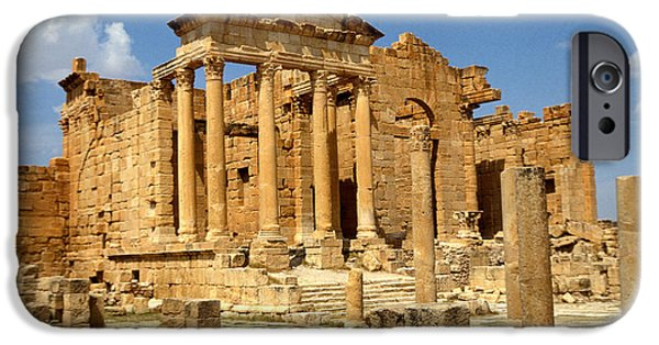 Ruin iPhone Cases - Roman City Of Sbeitla, Tunisia Photo iPhone Case by .