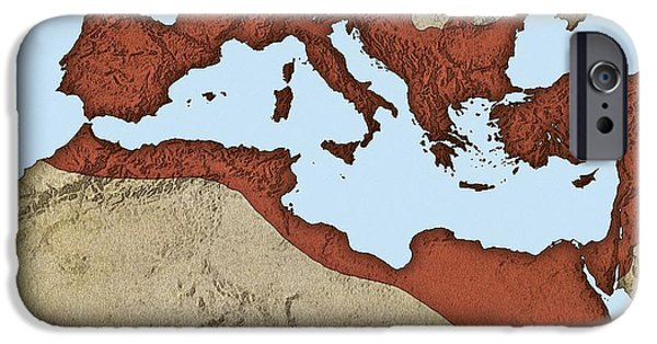 Northern Africa iPhone Cases - Roman Empire, Artwork iPhone Case by Mikkel Juul Jensen