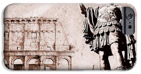 Julius Caesar iPhone Cases - Roman Empire iPhone Case by Stefano Senise