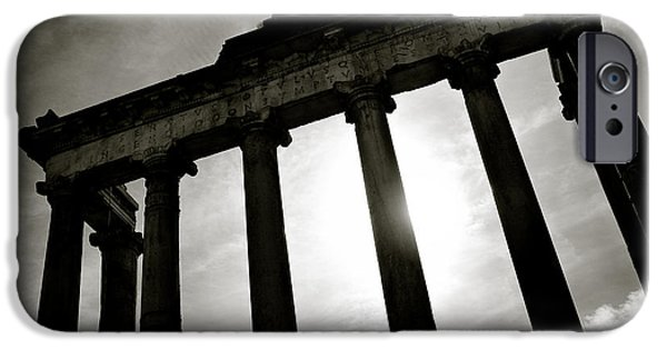 Ancient iPhone Cases - Roman Forum iPhone Case by Dave Bowman