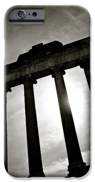 Roman Forum iPhone Case by Dave Bowman