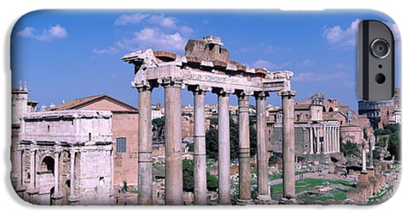D.c. iPhone Cases - Roman Forum, Rome, Italy iPhone Case by Panoramic Images