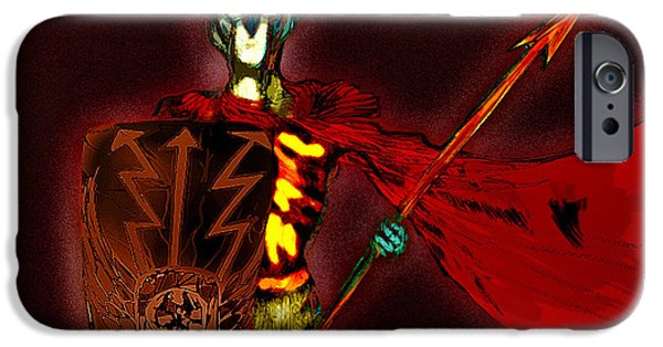 Mixed Media Pastels iPhone Cases - Roman Soldier  iPhone Case by Jazzboy
