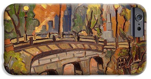 Pissarro iPhone Cases - Roman Stone Bridge Minnesota iPhone Case by Charlie Spear