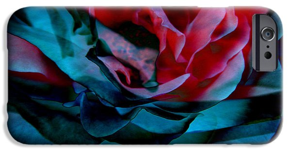 Print On Canvas iPhone Cases - Romance - Abstract Art iPhone Case by Jaison Cianelli