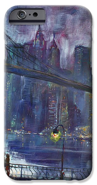 Romance by East River NYC iPhone Case by Ylli Haruni