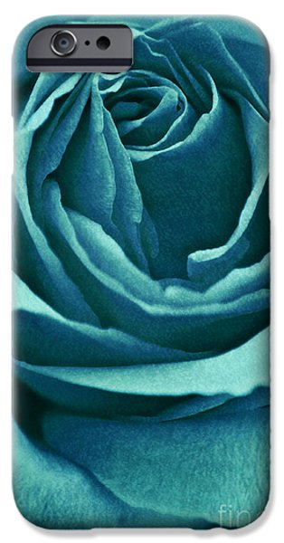 Green Roses iPhone Cases - Romance II iPhone Case by Angela Doelling AD DESIGN Photo and PhotoArt