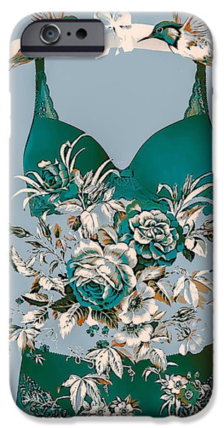 Coat Hanger Digital Art iPhone Cases - Romance In The Air iPhone Case by Eleni Mac Synodinos
