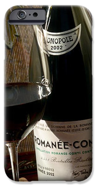 Wine Bottles iPhone Cases - Romanee Conti iPhone Case by Jon Neidert