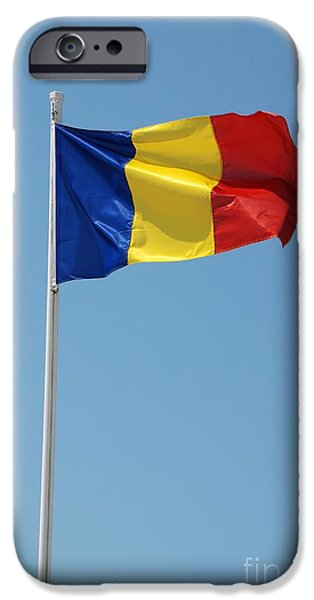 Mandraki iPhone Cases - Romanian national flag iPhone Case by David Fowler