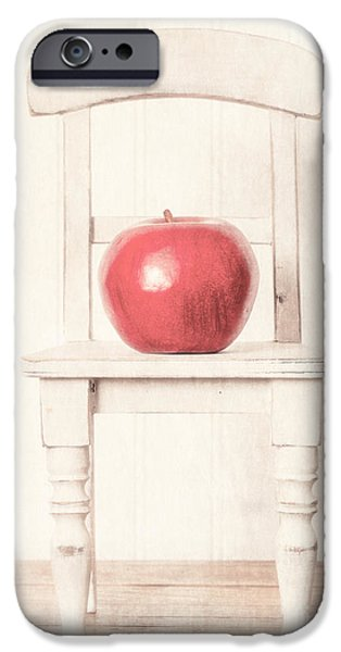 Chair iPhone Cases - Romantic Apple Still Life iPhone Case by Edward Fielding