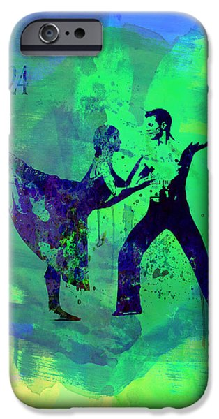 Seductive iPhone Cases - Romantic Ballet Watercolor 1 iPhone Case by Naxart Studio