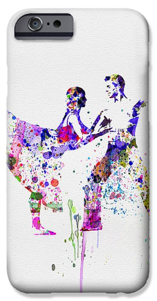 Seductive iPhone Cases - Romantic Ballet Watercolor 2 iPhone Case by Naxart Studio