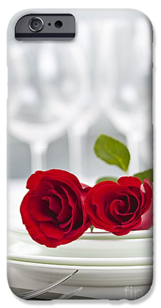 Best Sellers -  - Table Wine iPhone Cases - Romantic dinner setting iPhone Case by Elena Elisseeva
