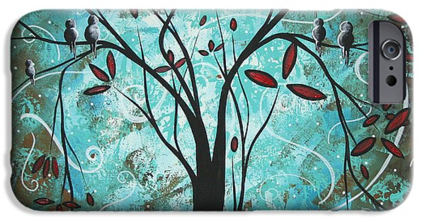 Whimsy Paintings iPhone Cases - Romantic Evening by MADART iPhone Case by Megan Duncanson
