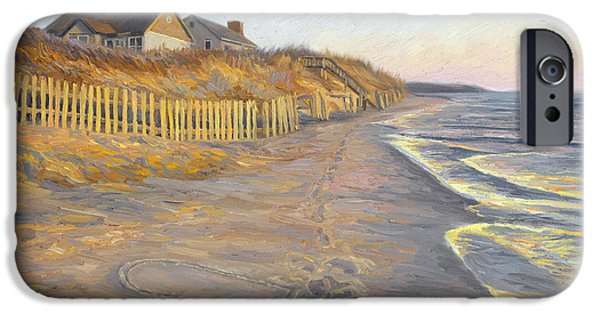 Scenery Paintings iPhone Cases - Romantic Getaway iPhone Case by Lucie Bilodeau