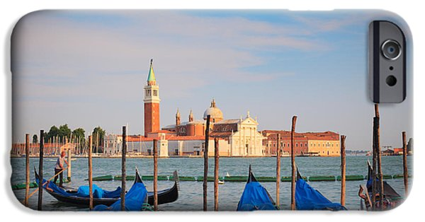 San Marco iPhone Cases - Romantic Gondolas iPhone Case by Inge Johnsson