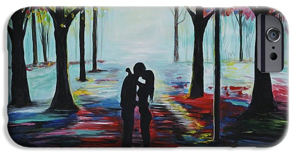 Recently Sold -  - Couple iPhone Cases - Romantic Kiss iPhone Case by Leslie Allen