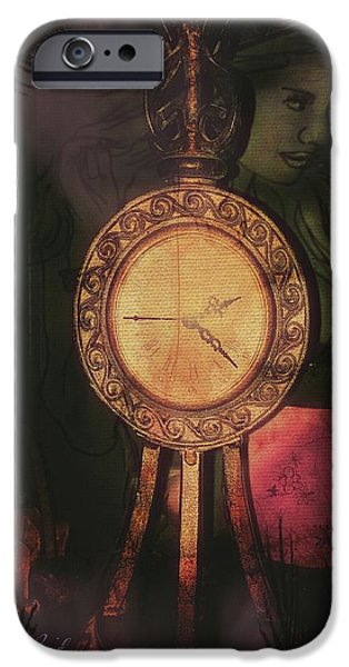 Time Pyrography iPhone Cases - Romantic Times iPhone Case by Cindy Leisner