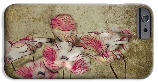 Texture Floral iPhone Cases - Romantiquite - 01a iPhone Case by Variance Collections