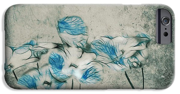 Texture Floral iPhone Cases - Romantiquite - 02v2t01 iPhone Case by Variance Collections