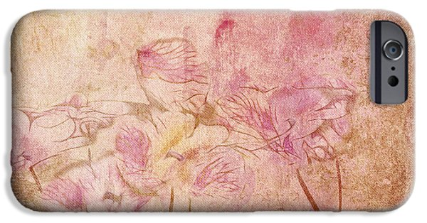 Texture Floral iPhone Cases - Romantiquite -  28at22 iPhone Case by Variance Collections