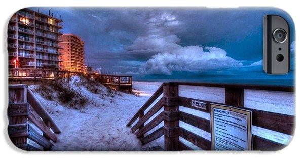 Micdesigns iPhone Cases - Romar Beach Clouds iPhone Case by Michael Thomas