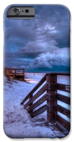 Romar Beach Clouds iPhone Case by Michael Thomas