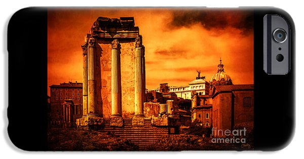 Charly iPhone Cases - Rome Burning iPhone Case by Prints of Italy
