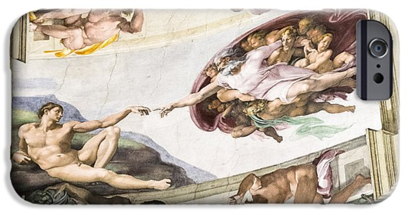 Popular iPhone Cases - Rome cistine chapel ceiling iPhone Case by Helga Jackson
