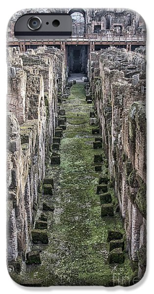 Ruin iPhone Cases - Rome Colosseum Interior 02 iPhone Case by Antony McAulay