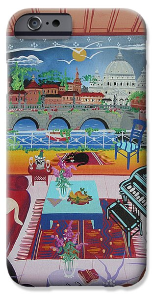 Piano iPhone Cases - Rome, Italy, 2012 Acrylic On Canvas iPhone Case by Herbert Hofer
