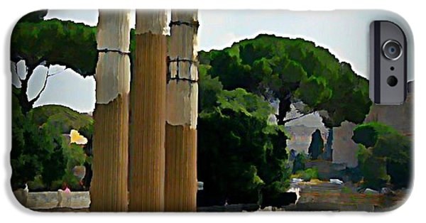 Halifax Art Work iPhone Cases - Rome Italy Poster iPhone Case by John Malone