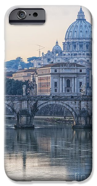 Pope iPhone Cases - Rome Saint Peters Basilica 02 iPhone Case by Antony McAulay