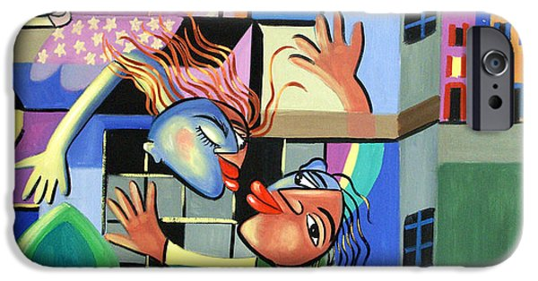 Print On Acrylic iPhone Cases - Romeo And Juliet iPhone Case by Anthony Falbo