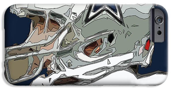 Romo iPhone Cases - Romo Comic Style Abstract iPhone Case by David G Paul