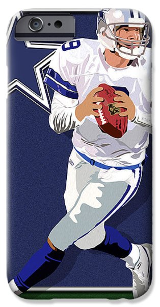 Romo iPhone Cases - Romo the Gunslinger iPhone Case by Timothy Ramos