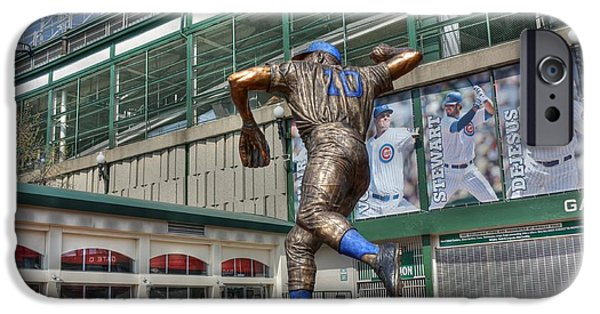Wrigley iPhone Cases - Ron Santo - 10 iPhone Case by David Bearden