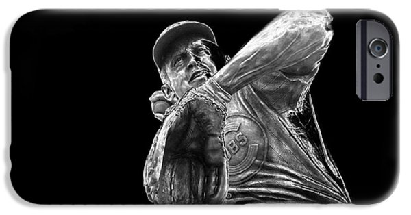 Wrigley iPhone Cases - Ron Santo - H O F iPhone Case by David Bearden