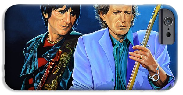 Head Stone iPhone Cases - Ron Wood and Keith Richards iPhone Case by Paul  Meijering