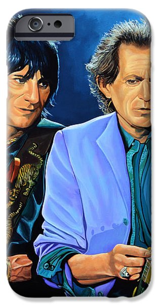 Ron Wood and Keith Richards iPhone Case by Paul  Meijering