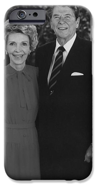 Reagan iPhone Cases - Ronald And Nancy Reagan iPhone Case by War Is Hell Store